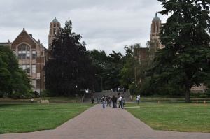 View of the Art Building from the Quad, University of Washington