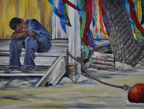 Moored, by CCAD alum Bev Darwin; http://bevdarwinstudios.blogspot.com/