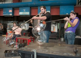 glass blowing in class