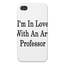 Im in love with an art professor iphone case