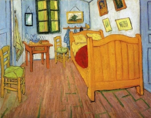 Vincent Van Gogh as a starving artist (The Bedroom 1888)
