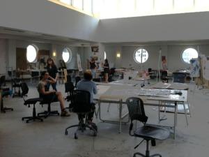 SAIC dormitory studio space
