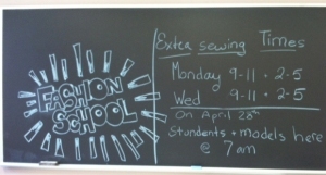 Kent St fashion design school (7) chalk board